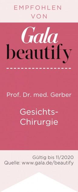 Gala beautify 2019 Prof Dr med Gerber