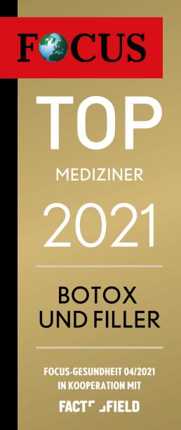 Focus Gesundheit TOP Mediziner 2021 Botox und Filler